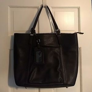Black Tote with Laptop Case